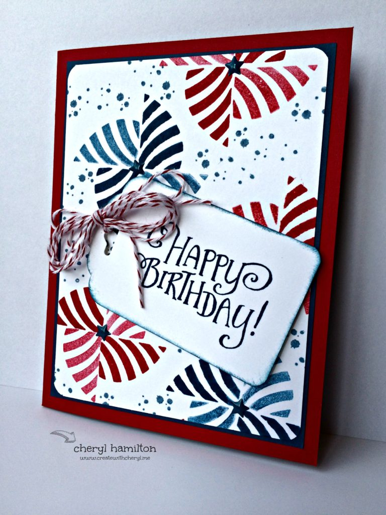 Create With Cheryl SSINK Color Challenge July 2