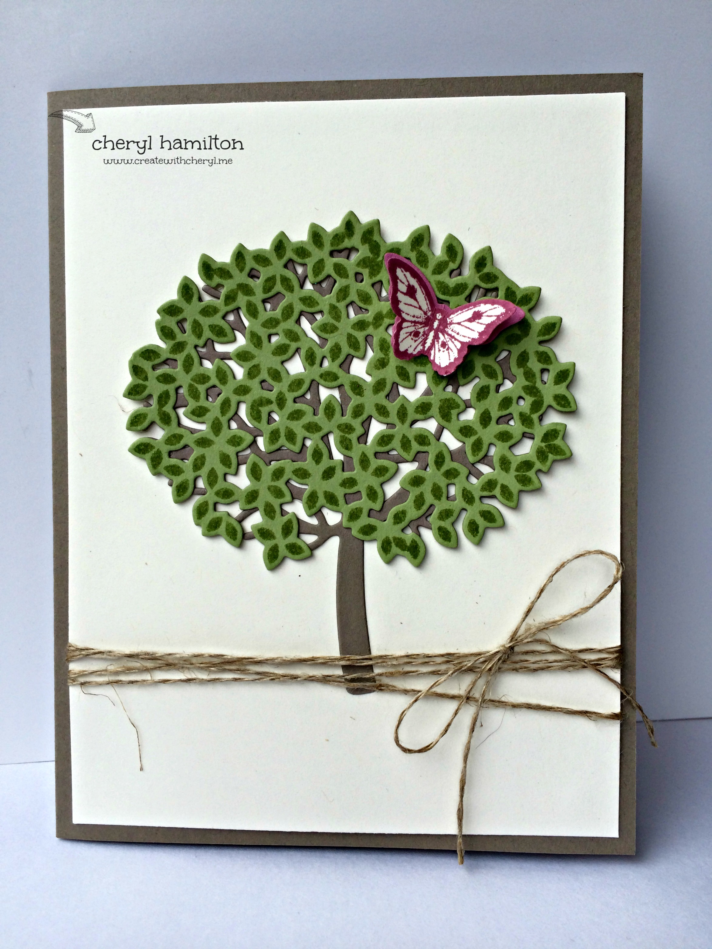 Beautiful Branches for July Card Class