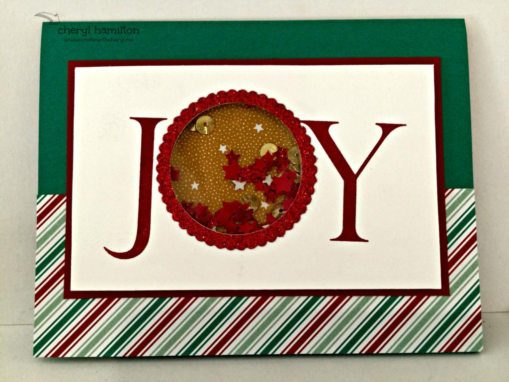 Createwithcheryl Joy Shaker Card