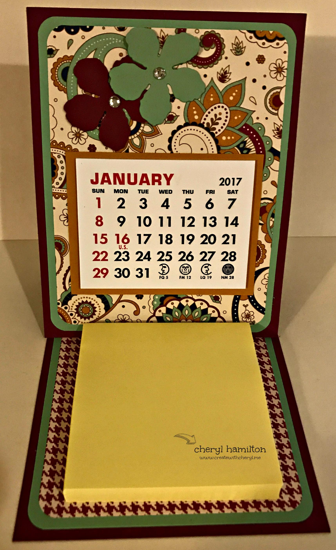 2017 Calendar Post-It Notes