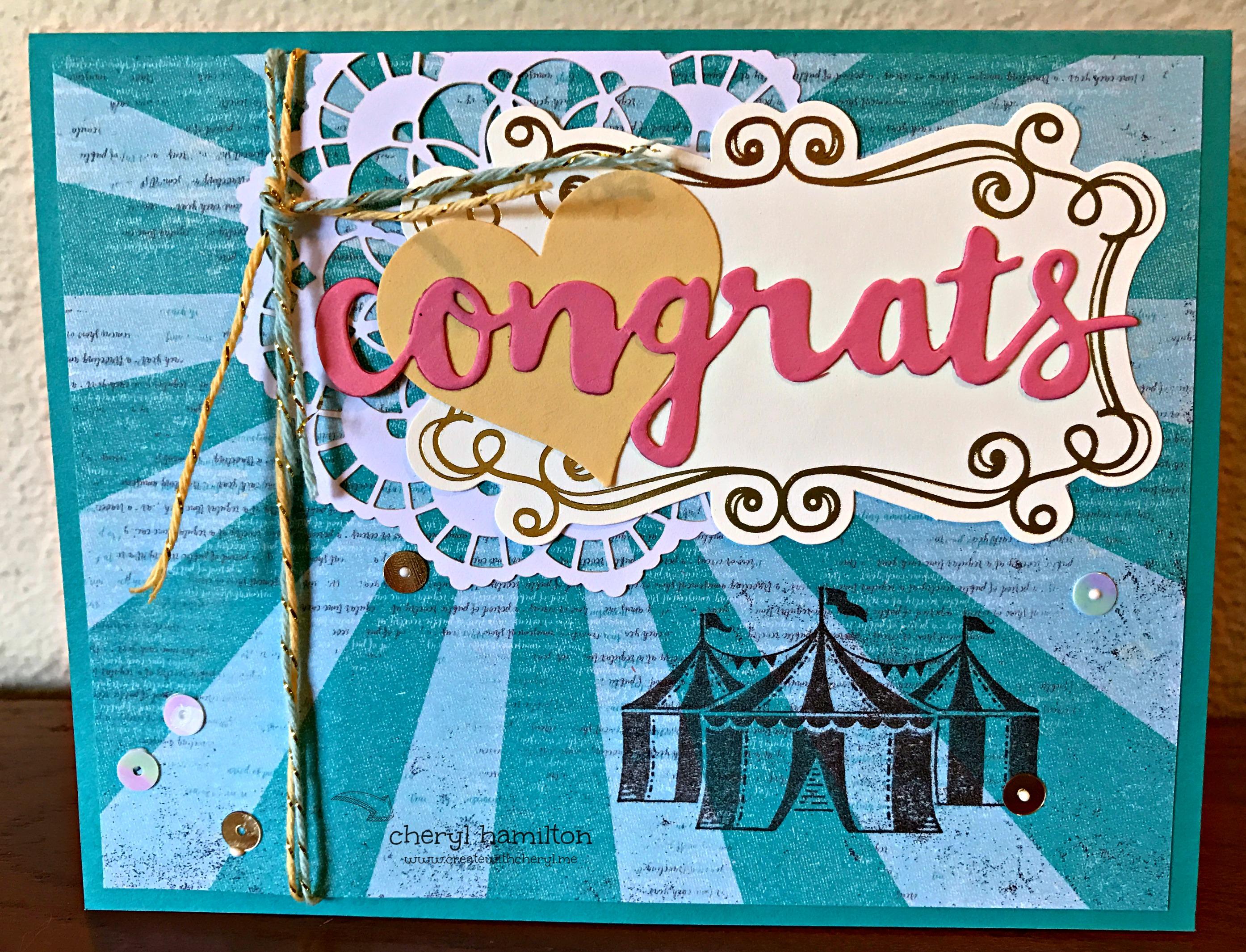 Cupcakes & Carousel Suite Congrats