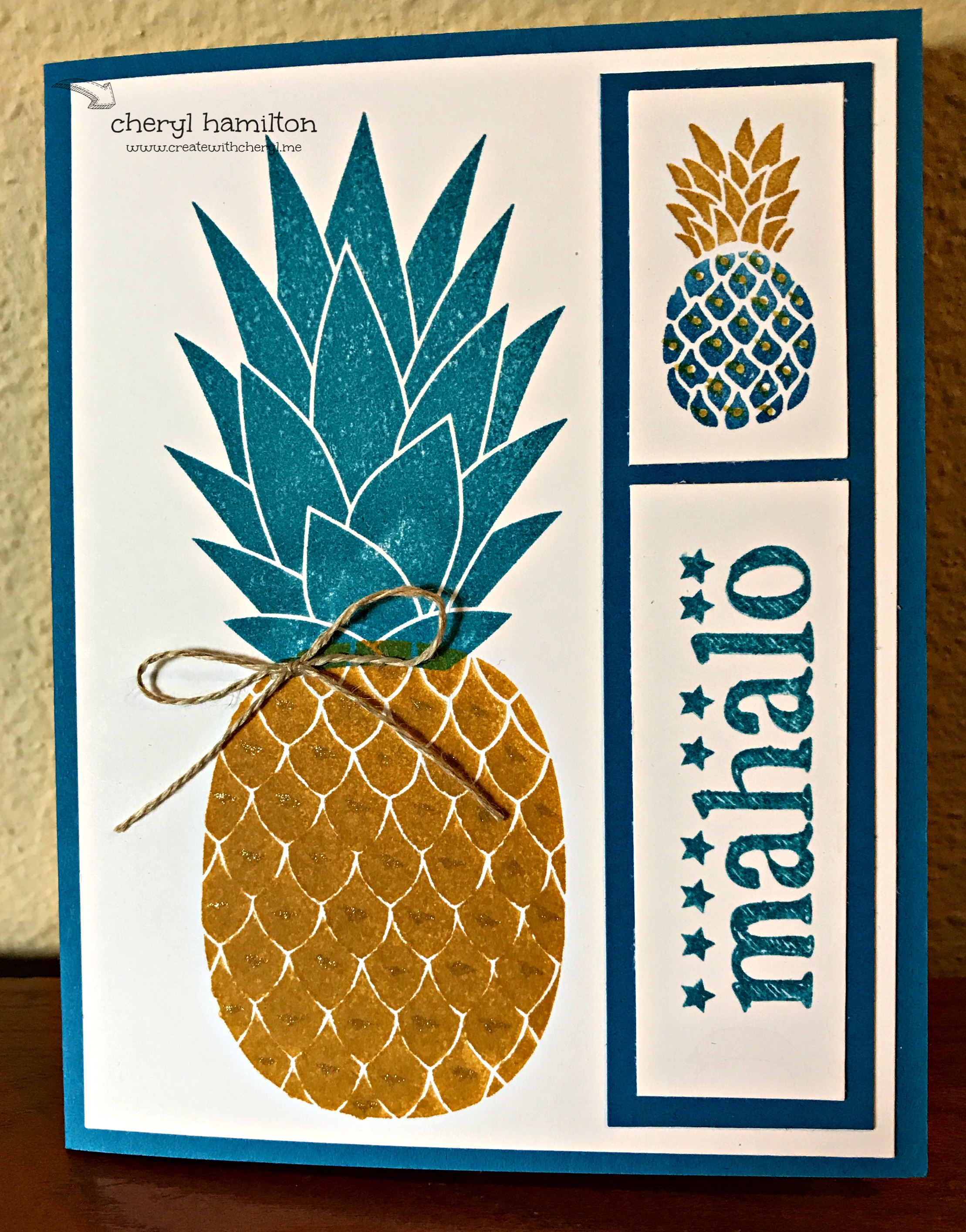 Pineapple Mahalo for SSINK Color Challenge #45