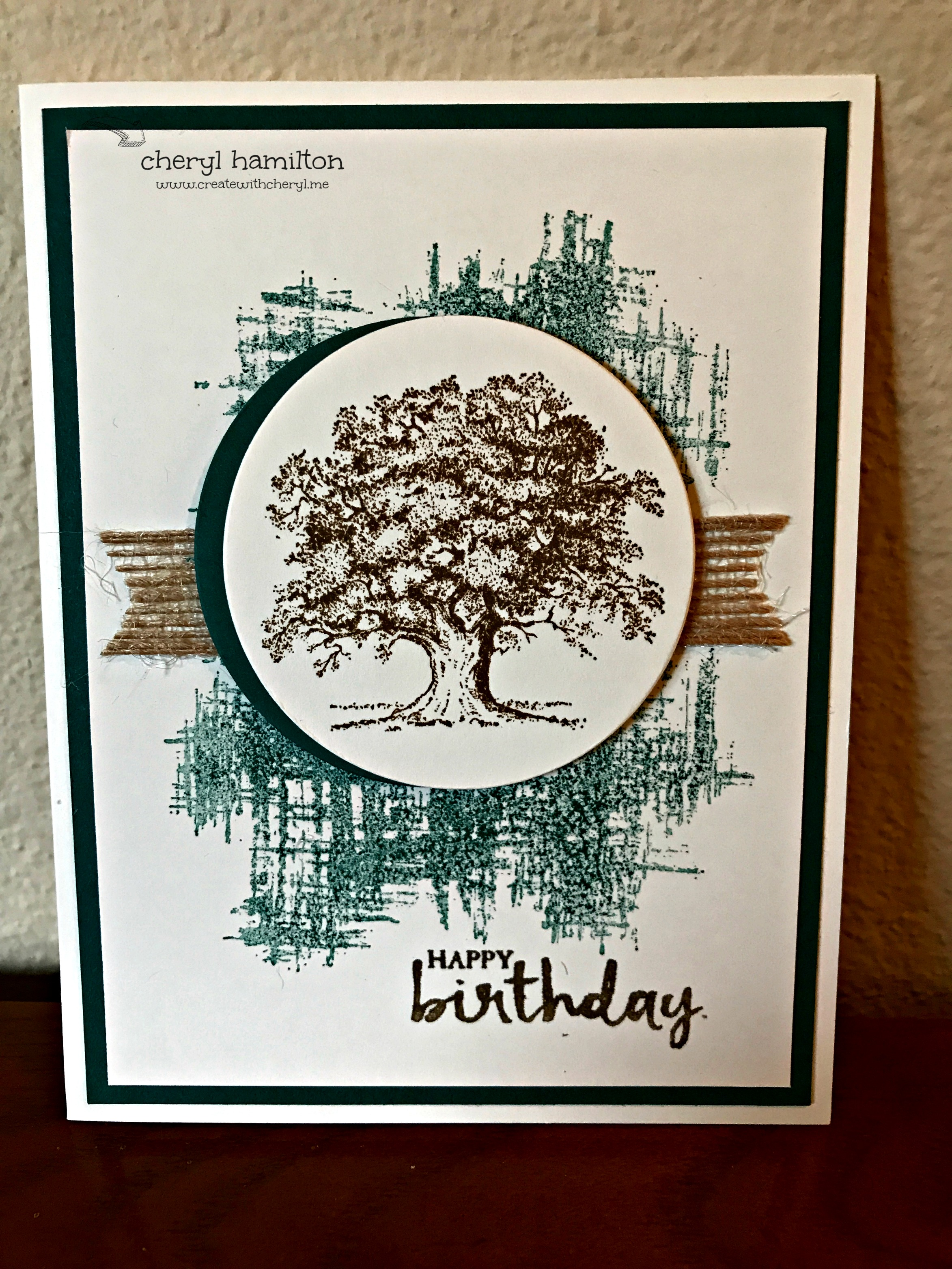 Lovely As a Tree Masculine Birthday