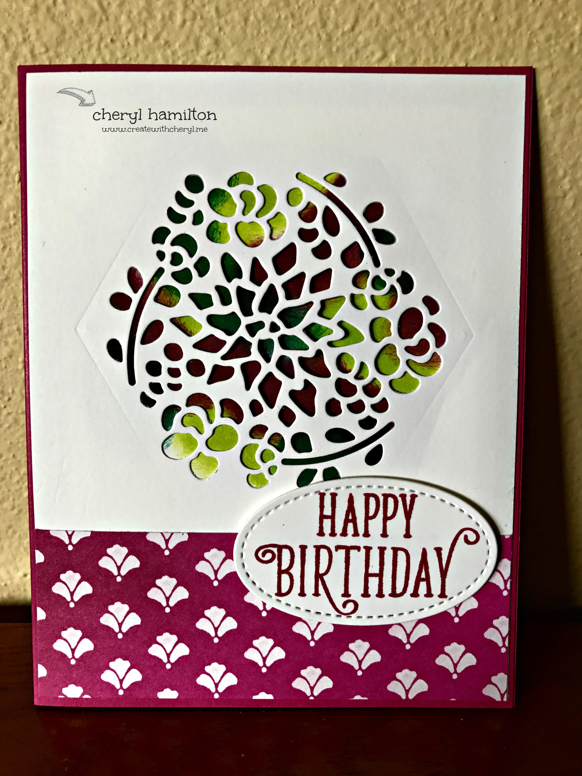 Window Box Peek-a-Boo Birthday Card