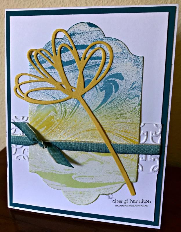 #SSINKCS47: Card Challenge Using Marbled Background