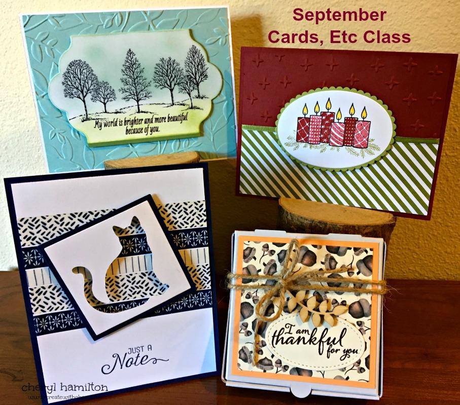 September Cards, Etc Class