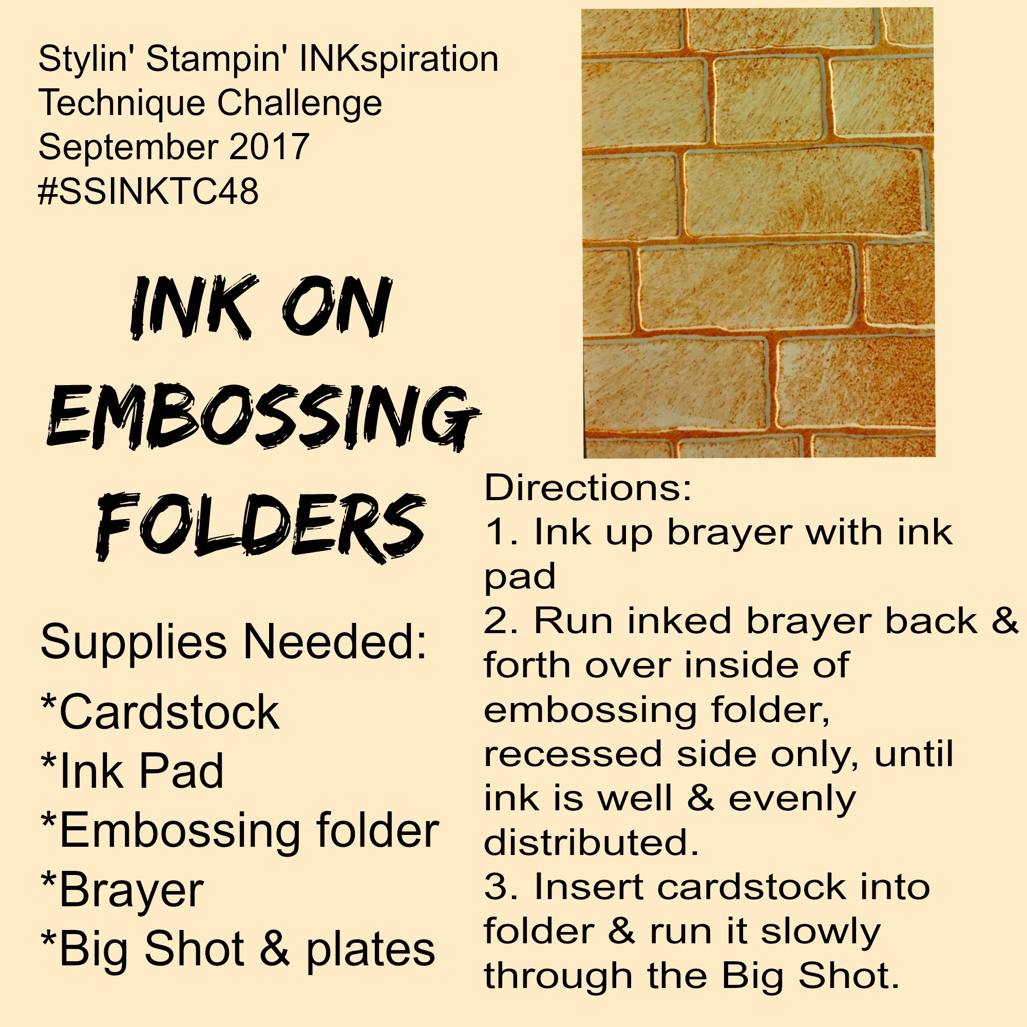 #SSINKTC48:  Ink on Embossing Folders