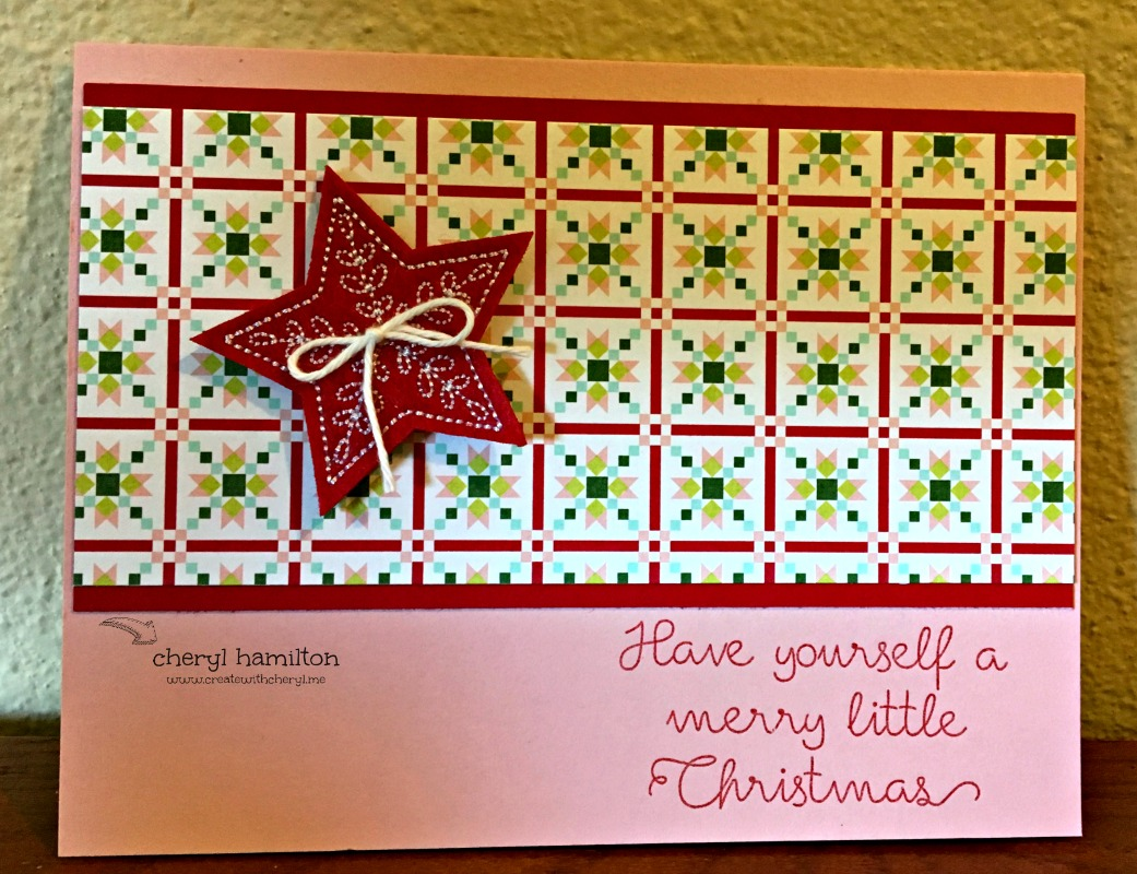 #SSINK Quilted Christmas Favorite Designer Series Paper