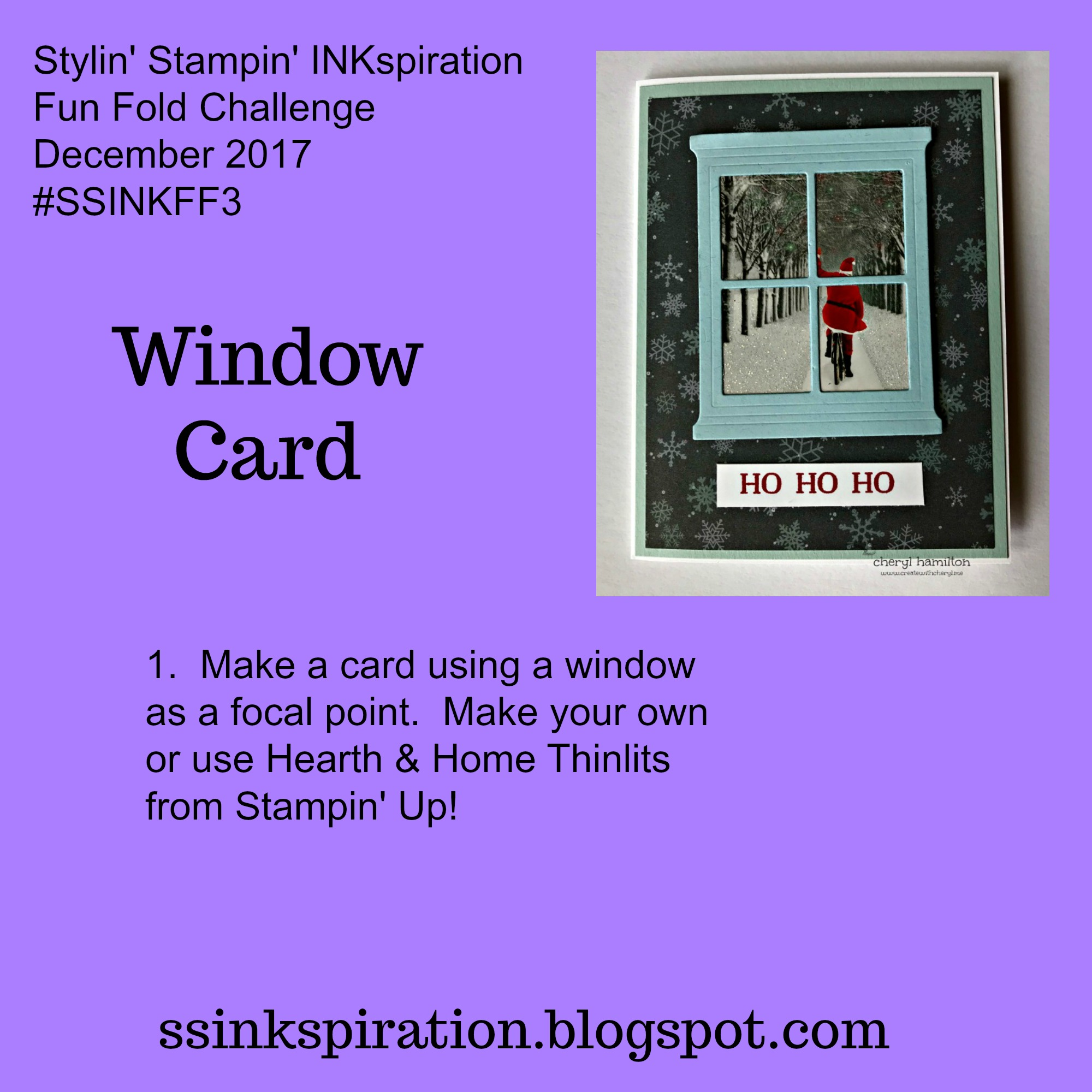 SSINK Window Cards- Recycling! - Create With Cheryl - Cheryl Hamilton