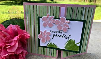 Tropical Chic Gatefold Card with Tutorial