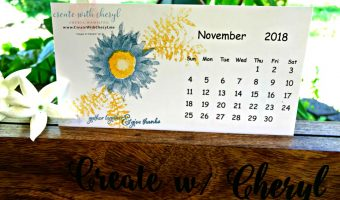 November Calendar #createwithcheryl #cherylhamilton #stampinup #paintedharvest #calendarsforsale