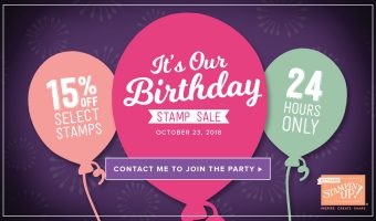 It's Our Birthday!  Stamp Sale