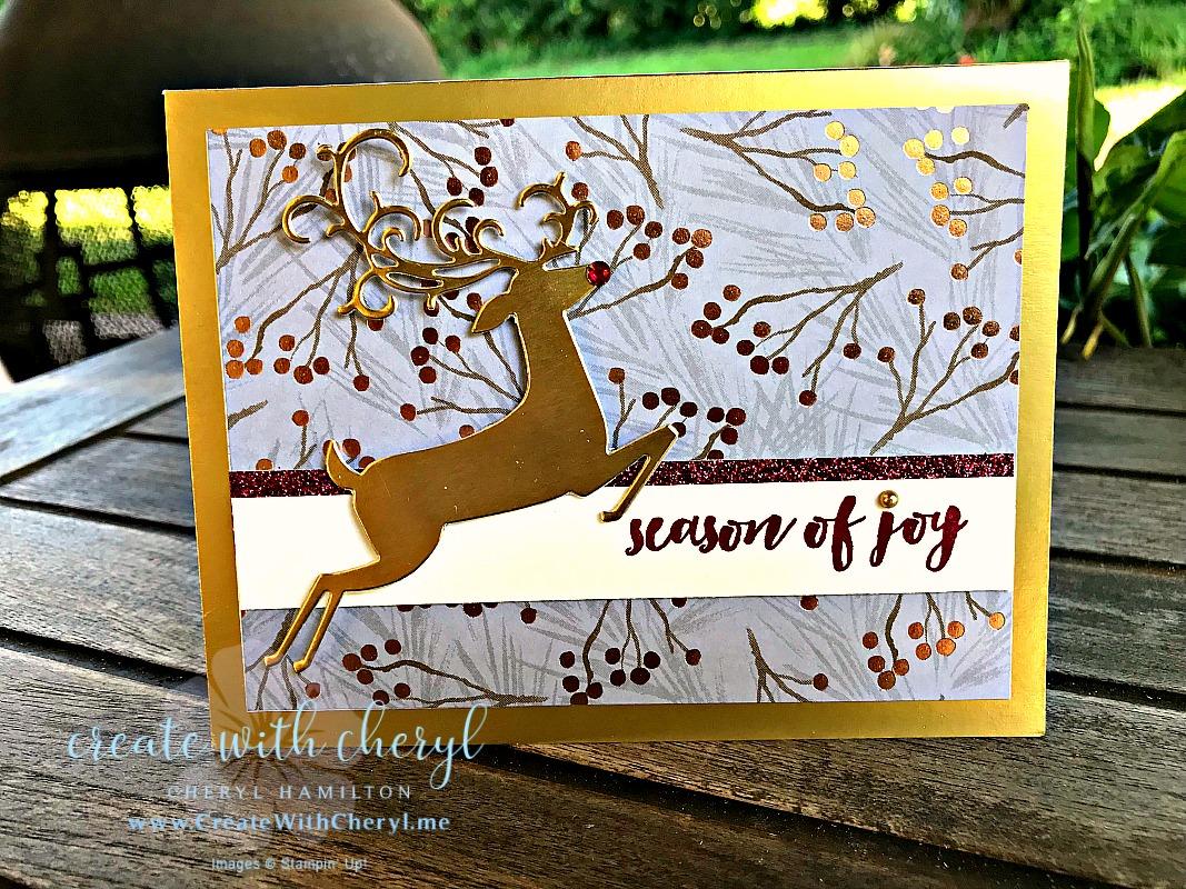#createwithcheryl #stampinup #christmascards #handmadecards #dashingdeer
