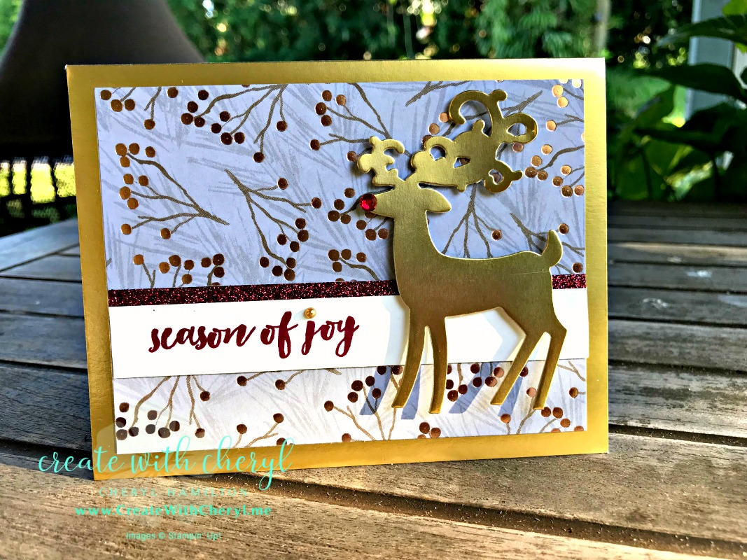 #createwithcheryl, #stampinup, #christmascards #handmadecards #dashingdeer