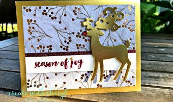 #createwithcheryl #stampinup #christmascards #dashingdeer