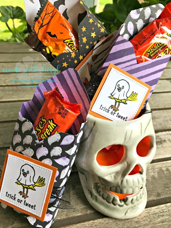 Trick or Tweet Treats #createwithcheryl #cherylhamilton #stampinup #diyhalloween #halloweentreats