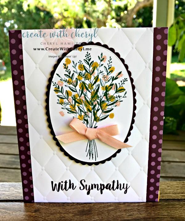 SSINK Harvest Season #createwithcheryl #cherylhamilton #SSINK #sympathycard #wishingyouwell