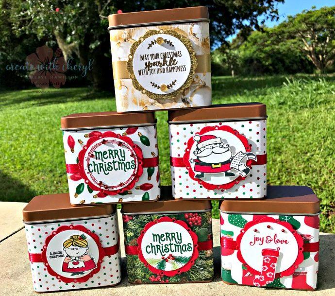 Candy Tins #createwithcheryl #stampinup #cherylhamilton #craftfair