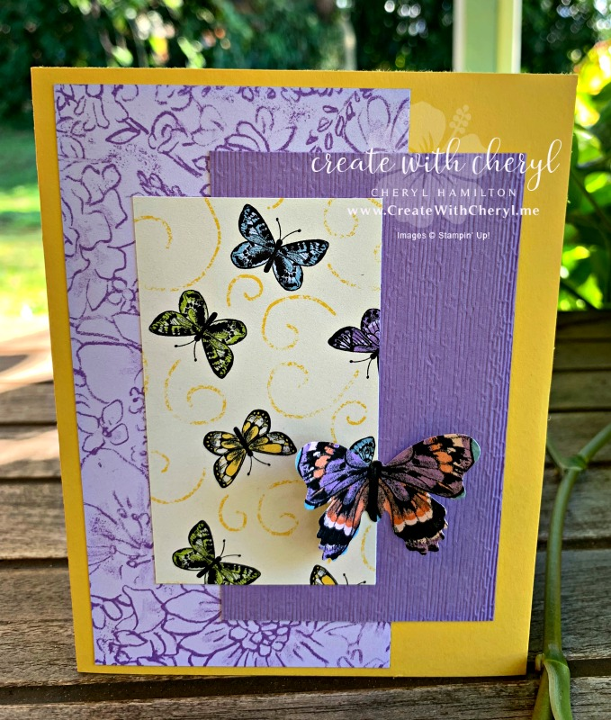 #saleabration #createwithcheryl #botanicalbutterfly #butterflies #stampinup #papercrafts