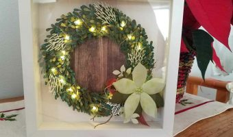 Light Up Wreath! #createwithcheryl #stampinup #thecraftyoinkpen #homedecor