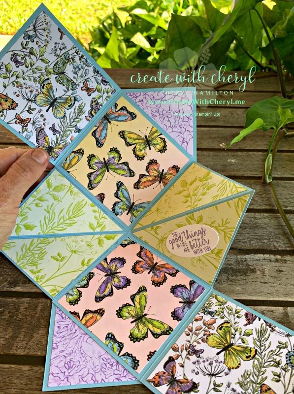 Butterfly Mini Album #createwithcheryl #cherylhamilton #stampinup #minialbum #diy
