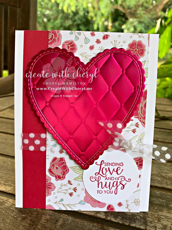 CWC Card Layout #11 #createwithcheryl #stampinup #valentinesday