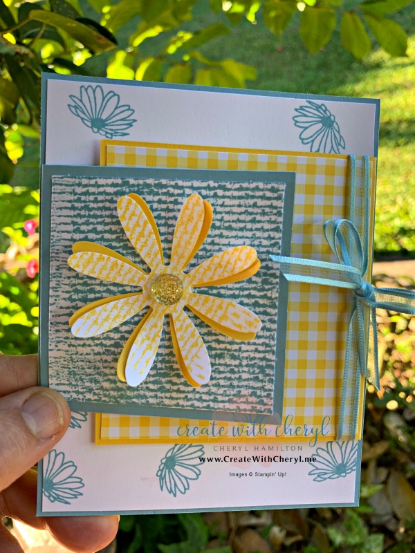 #stampinup #createwithcheryl #cherylhamilton #daisydelight #funfoldcard #handmadecard #occasions2019