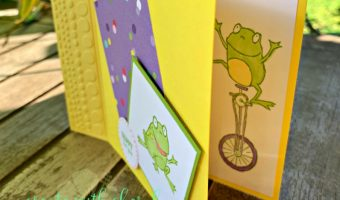 So Hoppy Together Fun Fold Card #createwithcheryl #sohoppytogether #saleabration