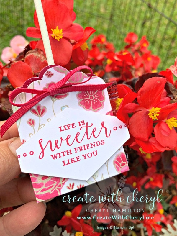 Lollipop Treats #createwithcheryl #cherylhamilton #stampinup #partyfavors #valentinesday#detailedwithlove