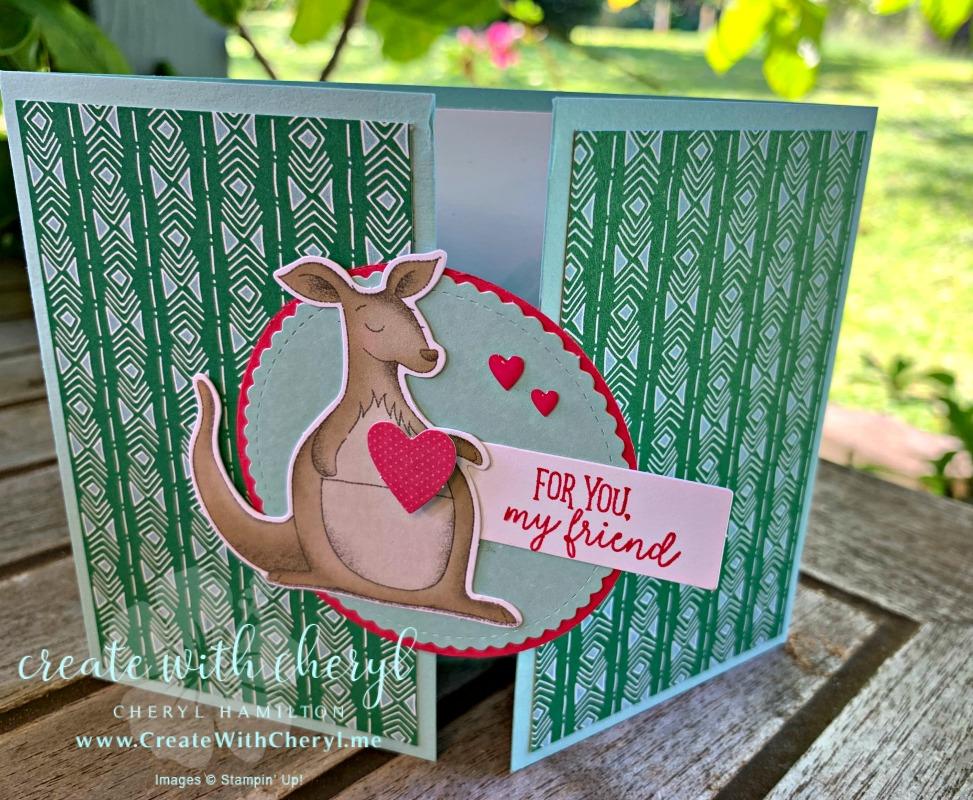 Paper Pumpkin January 2019 kit #paperpumpkin #createwithcheryl #stampinup #funfoldcard #valentinesday