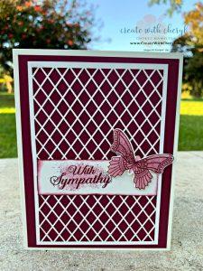 Butterfly Sympathy Card #createwithcheryl #cherylhamilton #sympathycard #stampinup
