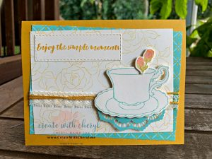 Tea Card #createwithcheryl #teatogether #stampinup #saleabration #teacard
