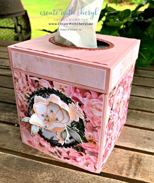 Tissue Box #createwithcheryl #stampinup #tissuebox