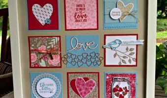 Valentine Sampler #createwithcheryl #cherylhamilton #valentine #foreverlovely #stampinup