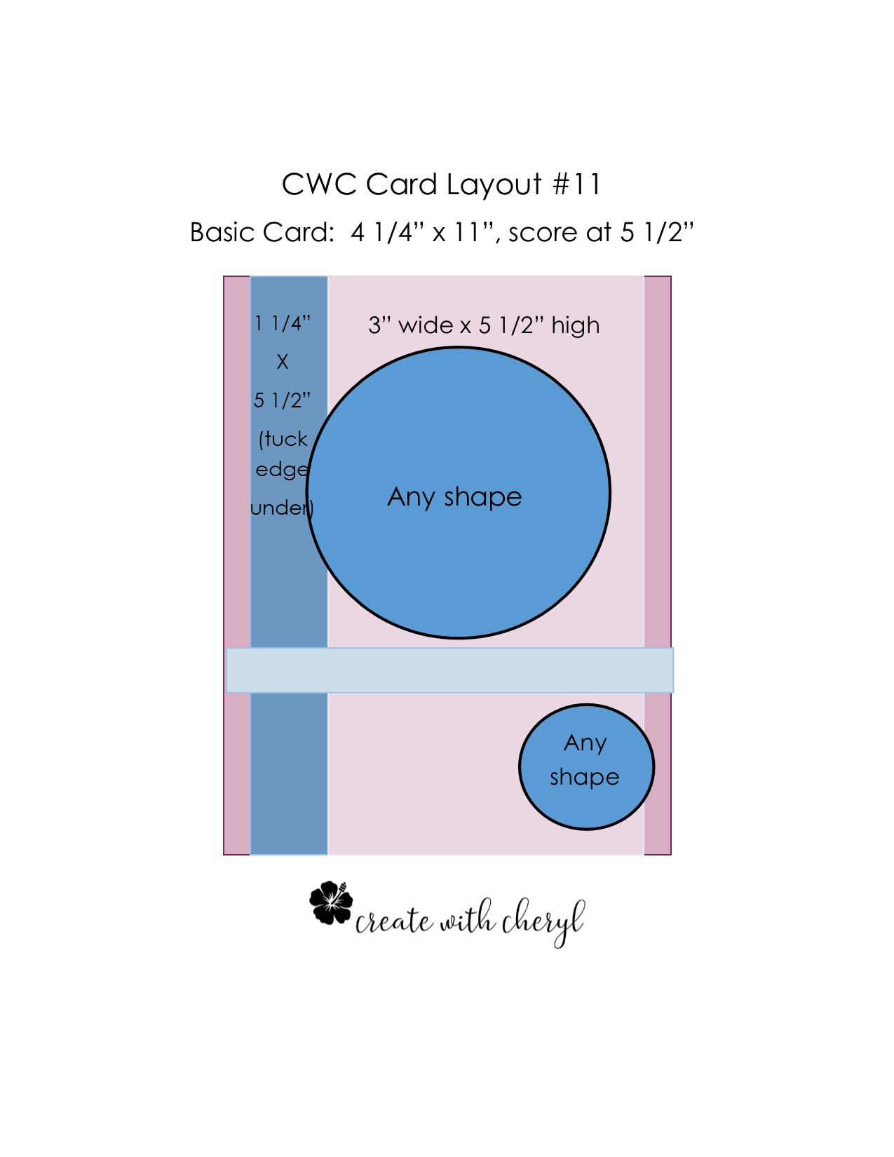 CWC Card Layout #11 #createwithcheryl