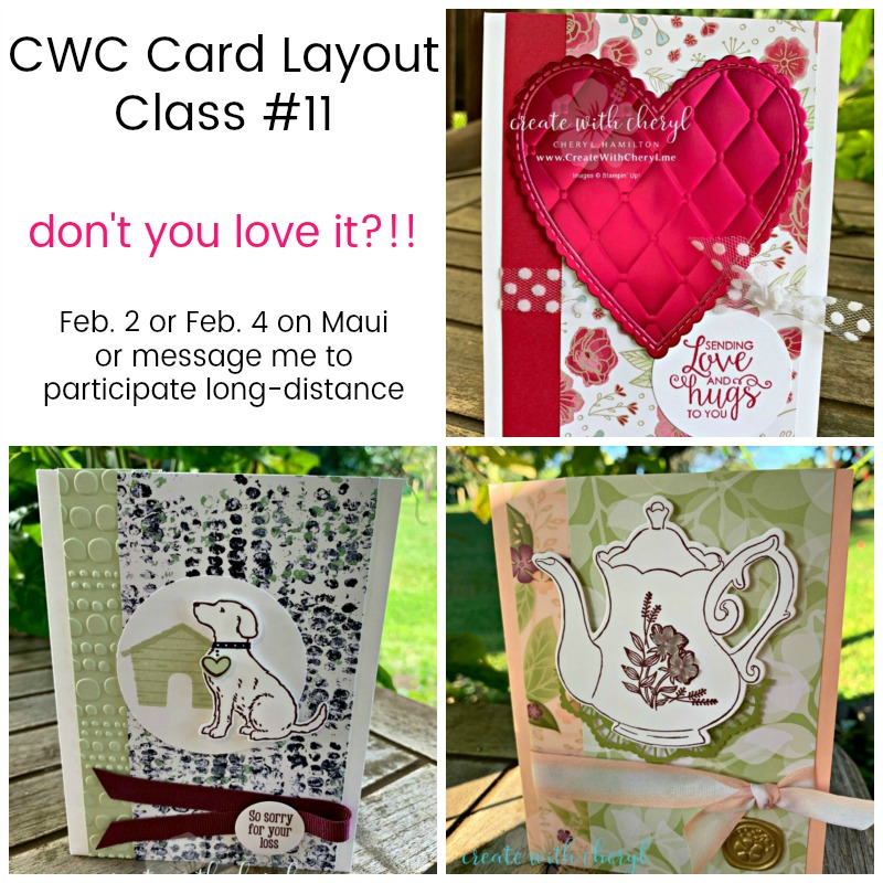 CWC Card Layouts #createwithcheryl #createwithcherylcardlayouts #handmadecards #stampinup