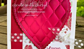 Valentine Card #createwithcheryl #valentinesday #stampinup #icsbloghop