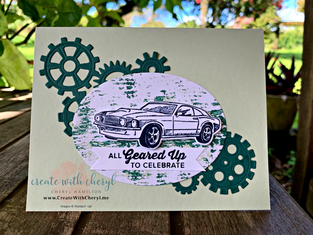 Geared Up Garage #createwithcheryl #masculinecard #diycards #GDP174