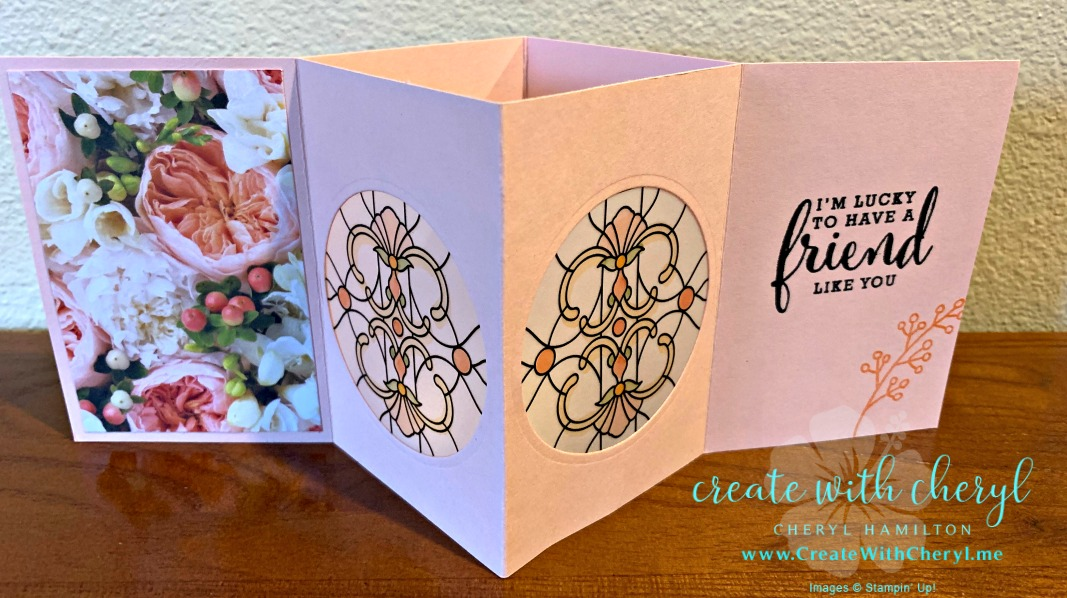 Vellum Luminary Card #createwithcheryl #stampinup #diycards #funfolds #cardtutorial #gracefulglass