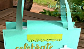 Stamp a Stack #createwithcheryl #stampinup #paperpurse #diypurse
