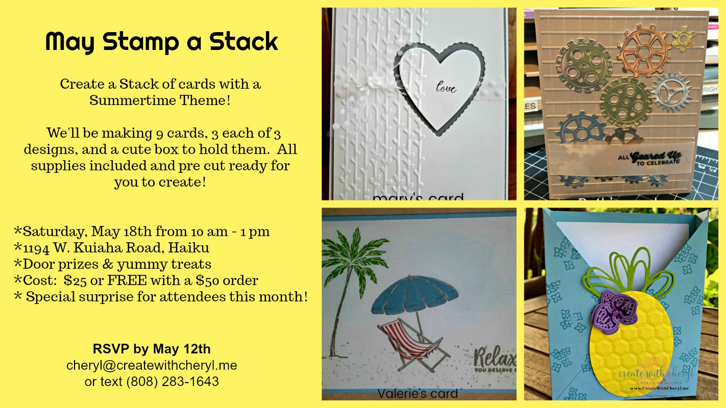 May Stamp a Stack #createwithcheryl