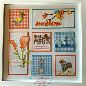 Spring Sampler #createwithcheryl #diy #homedecor #sampler #easter #stampinup