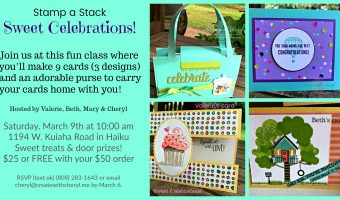 Sweet Celebrations! #createwithcheryl #sweettreats #diycards