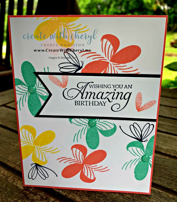 Creative Folds April 2019 #createwithcheryl #peacefulreflection #birthdaycard #stampinup