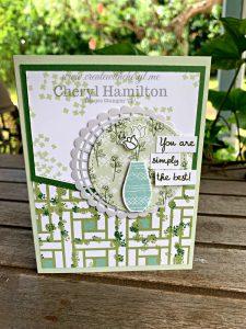 #CWC#15 #createwithcheryl #cherylhamilton #gardenlane #variedvases #handmadecards