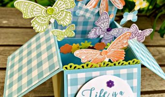 Card in a Box #createwithcheryl.me #papercrafts #cardinabox #popupcards #butterflies