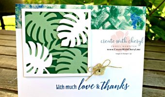 #createwithcheryl #tropicalchic #thankyoucards #stampinup #diy #handmadecards