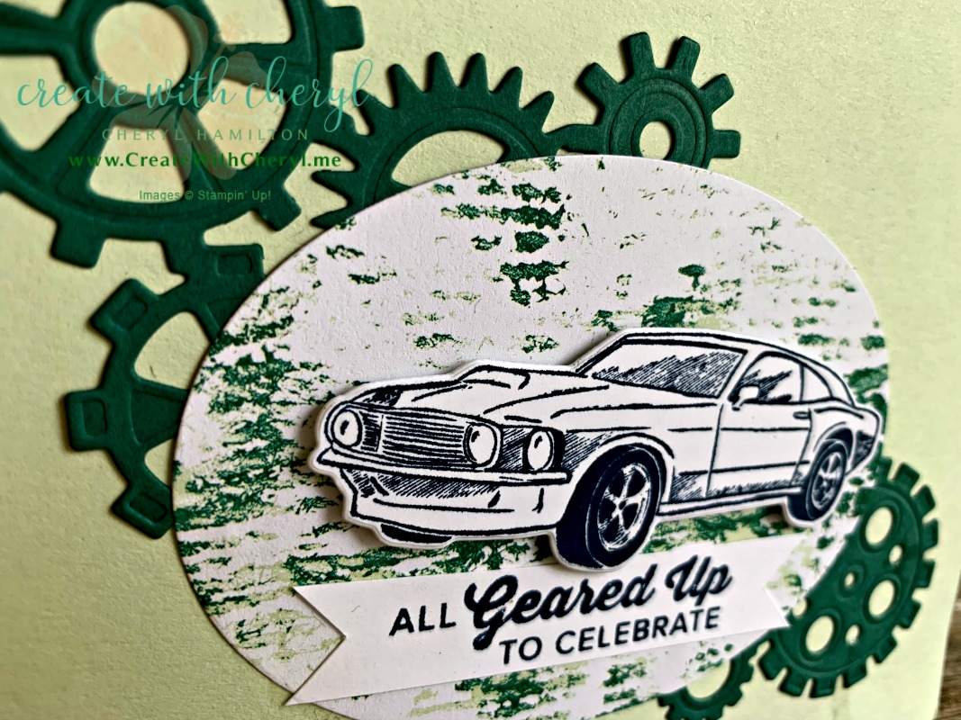 #rubberstamping #papercrafts #stamping #creative #Stampinup #handmadecards #imadethis #cherylhamilton #createwithcheryl #gearedupgarage