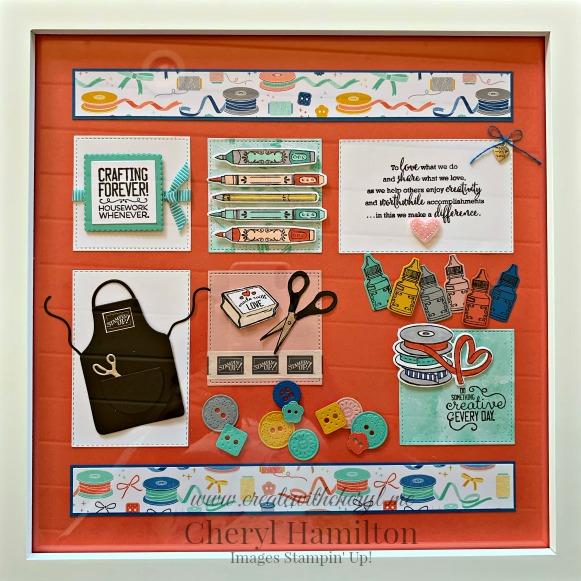 #followyourart #sampler #diyhomedecor #createwithcheryl #cherylhamilton #stampinup