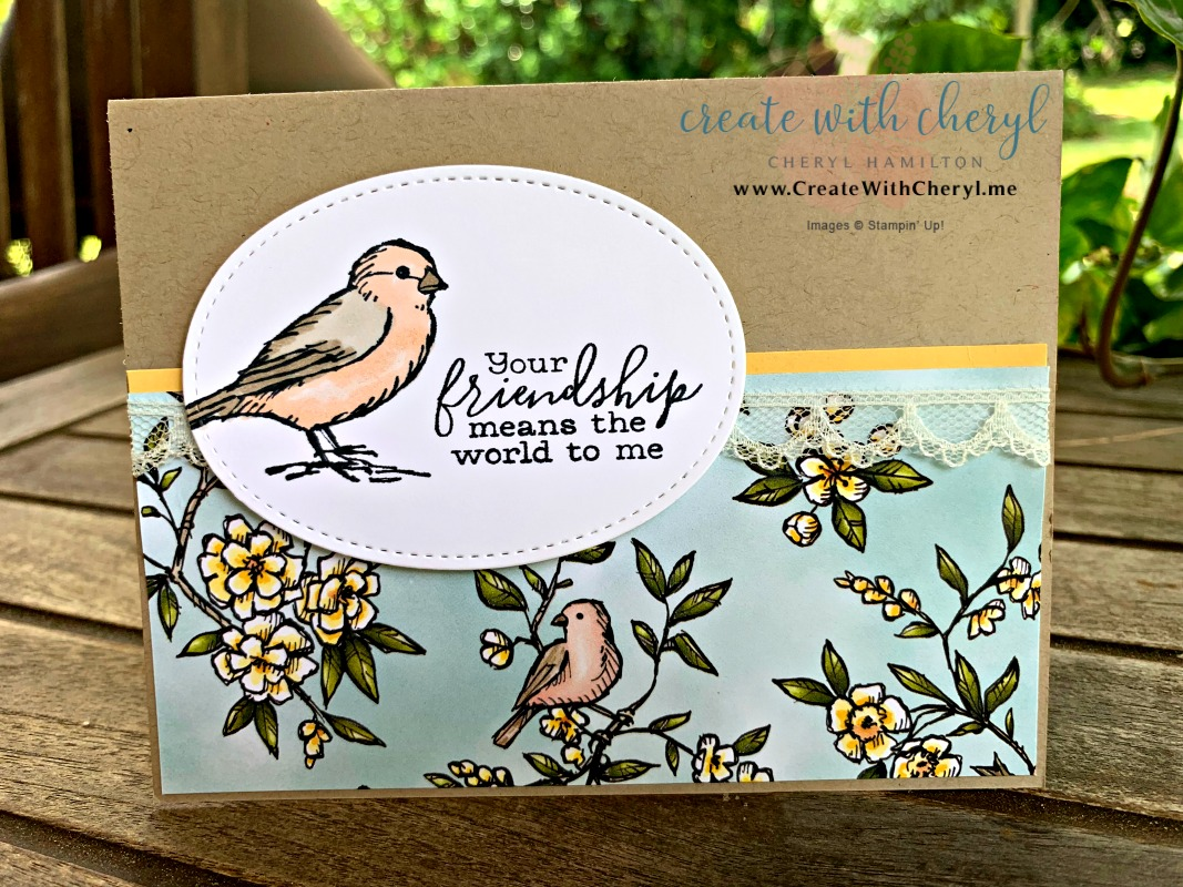 #freeasabird #createwithcheryl #birdballad #handmadecard